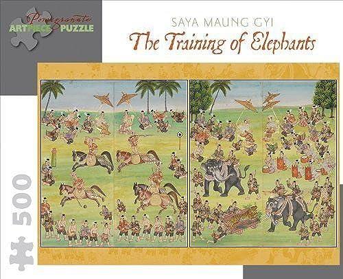 ventas al por mayor Saya Maung Gyi 500 Piece Puzzle The Training Of Of Of Elephants by Pomegranate  tomamos a los clientes como nuestro dios