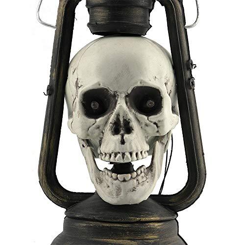 Liuanfang Led Schädel Laterne Leuchtende Augen Gruselige Hängelampen Halloween Deko Requisiten Für Halloween Und Andere Festivals