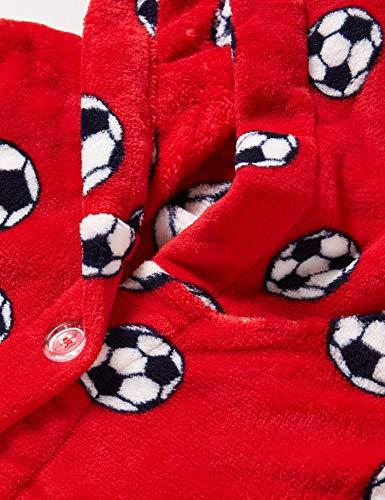 Playshoes Kuschelweicher Fleece Morgenmantel Fußball Capo d'Abbigliamento Bambino 2