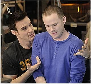 Aaron Ashmore 8x10 Photo Warehouse 13 Killjoys Smallville in Blue Shirt w/Eddie McClintock Grey Tee w/Numbers kn