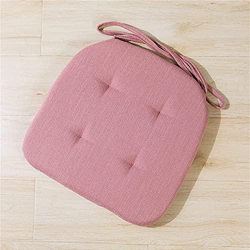 TMXK Cuscini per sedie 4 Pezzi con Lacci Memory Foam Cuscino per Sedia da Pranzo da Cucina Confortevole e Traspirante Antiscivolo 42x40 cm