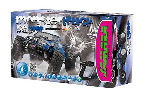 RC Auto kaufen Monstertruck Bild 6: Jamara Tiger Ice Monstertruck 1:10 4WD NiMh 2,4G LED - Allrad, Elektroantrieb, Akku, 35Kmh, Aluchassis, spritzwasserfest, Öldruckstoßdämpfer, Kugellager, Fahrwerk einstellbar, fahrfertig*