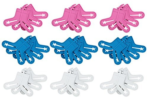 30 Stück Sockensortierer Sockenclips Sockenklammern