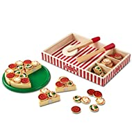 Melissa & Doug Pizza Party Play set - 63 Pieces, H: 13.5 x W: 10.5 x D: 1.6