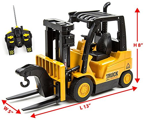 Toysery Functions Remote Control Truck Forklift Toy Play Set Vehicle for Kids...