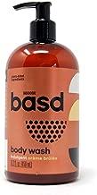 Basd, Organic Body Wash, Indulgent Crème Brulee, Moisturizing, Natural Skin Care, Vegan, Hypoallergenic, Aloe Vera Juice, Green Tea, 15.2 Ounce Bottle
