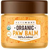 Petsmont Organic Dog Paw Balm - Made in USA - Heals Dry, Cracked, Irritated Dog Paws - Dog Balm, Natural Dog Nose Balm, Paw Balm for Dogs Natural, Dog Lotion, Paw Soother for Dogs