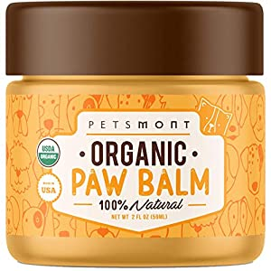 Petsmont Organic Paw Balm for Dogs & Cats 2oz – Made in USA – Heals Dry, Cracked, Irritated Dog Paws – Dog Balm, Natural Dog Nose Balm, Paw Balm for Dogs Natural, Dog Paw Balm, Paw Balm for Cats