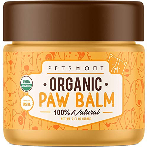 Petsmont Organic Paw Balm for Dogs & Cats 2oz - Made in USA - Heals Dry, Cracked, Irritated Dog Paws...