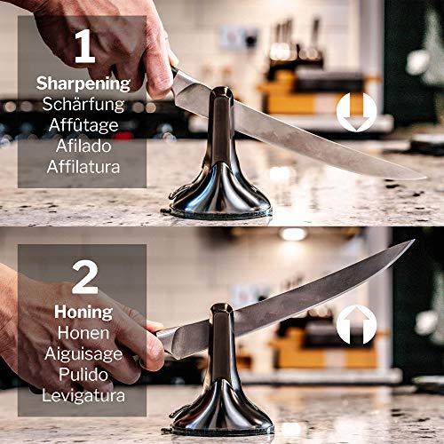 AnySharp ASKSXGUN XBlade Professional Knife Sharpener with PowerGrip, Gun Metal