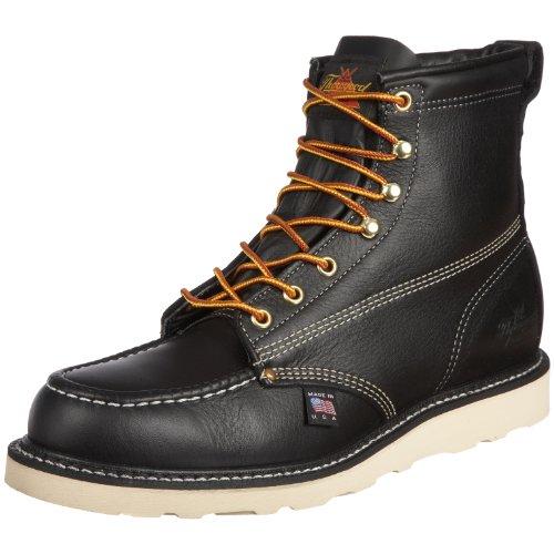 Thorogood 6 inches Moc Toe Work Boot 814-4203, Herren Stiefel / Bootsschuh, schwarz, 43 EU / 9 UK