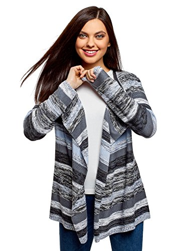 oodji Ultra apparel runs considerably small - we recommend either going one size up your regular size for a slim fit or two sizes up for a more relaxed fit Stylish waterfall cardigan with stripes in mélange yarn Nice and soft cardigan will keep you w...