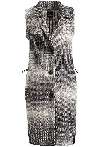 khujo Damen Weste FELIZIA Lange Strickweste im klassisch sportlichem Design mit Farbverlauf