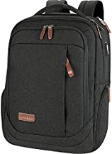 KROSER Laptop Backpack Large Computer Backpack Fits up to 17.3 Inch Laptop with USB Charging Port Water-Repellent School Travel Backpack Casual Daypack for Business/College/Women/Men-Charcoal Black