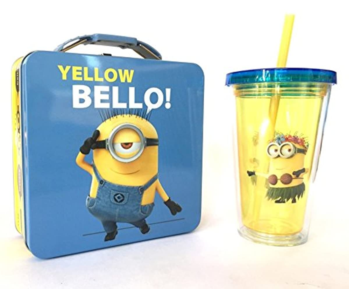 Minion Tin Lunch Box and Tumbler Cup