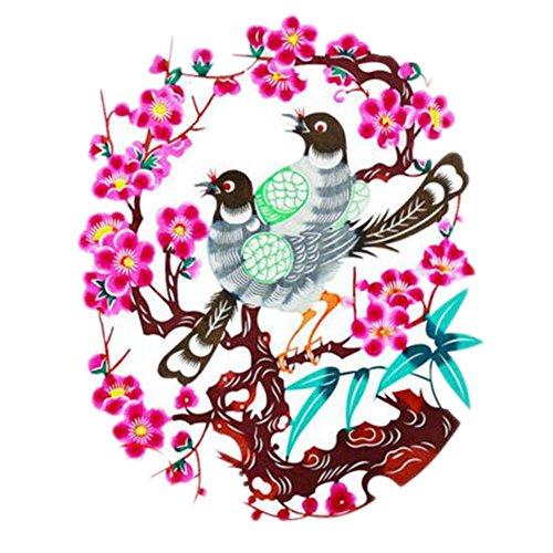 Black Temptation 4PCS Chinese Traditional Art Paper Cut Décor Collection colorée Souvenir-A18