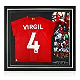 Virgil Van Dijk Signed Liverpool Soccer Jersey. Premium Frame   Autographed Sport Memorabilia