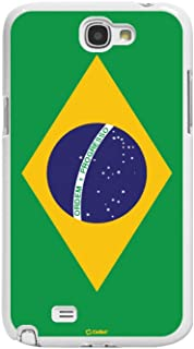 Cellet Proguard Case with Brazil Flag for Samsung Galaxy Note 2 - White