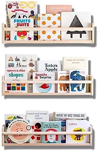 Mami – Librería Montessori de madera para niños | 3 estantes para dormitorio infantil | Porta libros cómics cuadernos diseño | 100% Made in Italy | 3 estantes