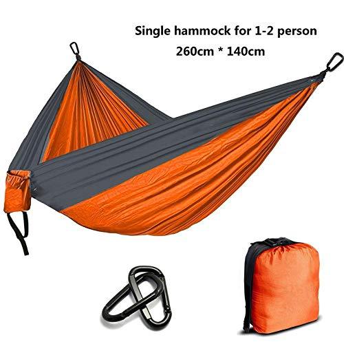 NM Camping Parachute Hamac Survie Jardin Meubles D'extérieur Loisirs Dormir Hamaca Voyage Double Hamac Orange