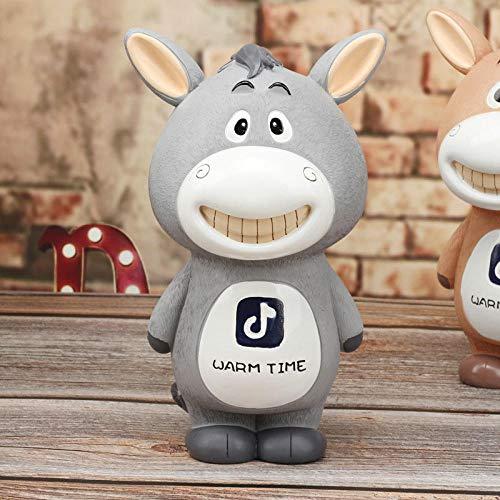 TWGDH Hauptdekoration Cartoon Kleiner Esel Sparschwein Dekoration Cartoon Nette Butterblume Nachtlichter Handwerk Student Geburtstagsgeschenke-Grau M.