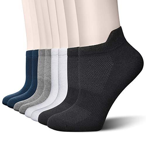 Okany 8 Paar Sneaker Socken Herren Damen Socken Herren Baumwolle Wandersocken Kurze Sportsocken Rutschfest Trekkingsocken Atmungsaktiv 40-50