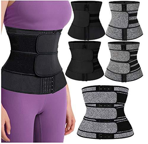 Velcro Cremallera Abdomen cinturón cinturón cinturón posparto protección cinturón Deportes plástico cinturón Sudor Cuerpo en Forma de Hombres y Mujeres del Mismo Estilo exc.tq