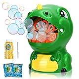 Gifort Maquina Burbujas para niños, soplador de Burbujas automático Cute Dinosauria Maquina Pompas Jabon con solución de jabón para Juguetes Ideales para niños