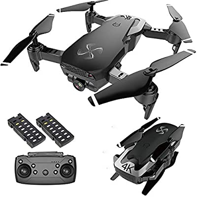 Drone X Pro AIR 4K Ultra HD Dual Camera FPV WiFi Quadcopter Live Video Follow Me Mode Gesture Control 2 Batteries Included (Black)