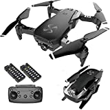 DRONE-CLONE XPERTS Drone X Pro AIR 4K Ultra HD Dual Camera FPV WiFi Quadcopter Follow Me Mode Gesture Control 2 Batteries Included (Black)