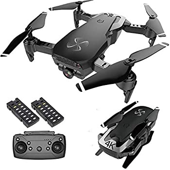 DRONE-CLONE XPERTS Drone X Pro AIR 4K Ultra HD Dual Camera FPV WiFi Quadcopter Follow Me Mode Gesture Control 2 Batteries Included  BLACK