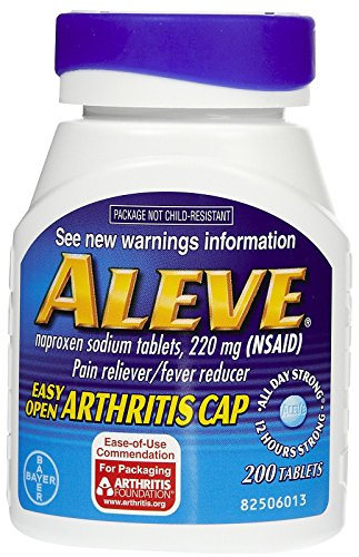 Aleve Pain Reliever Tablets with Easy Open Cap-200 ct.