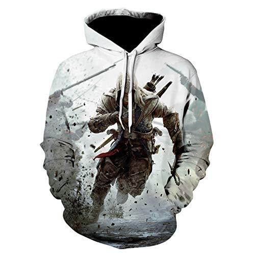 CYANDJ-Assassin's Creed-Unisex-Pullover, 3D-Hoodie, Lässiger, Atmungsaktiver Langarmpullover, Jungen Sweatshirt Mantel Jacke-01/L