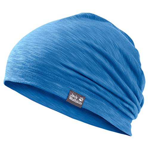 Jack Wolfskin Unisex-Kinder Travel Beanie Bonnet Strickmütze, (Wave Blue), (Herstellergröße: Small)