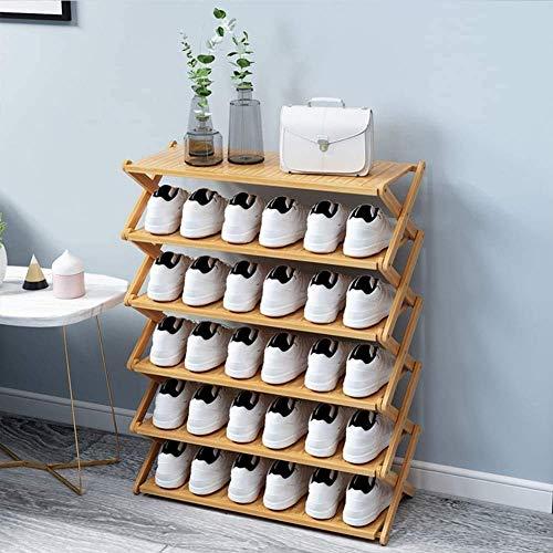 Zapatero Gabinete para zapatos Puerta simple Hogar a prueba de polvo Económico Estante de almacenamiento plegable en la puerta Estante para zapatos de varias capas Estante para zapatos que ahorra espa