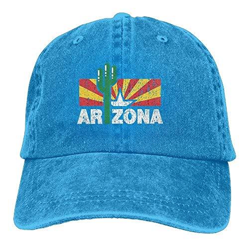 Trushop Vintage Cactus Arizona Flag Unisex Adjustable Baseball Caps Denim Hats Cowboy Sport Outdoor Baseball Caps Hüte