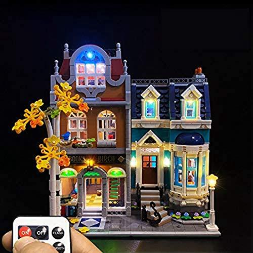HARLT Kit De Iluminación Nuevos Llevados por La Librería Lego Estilo Europeo Compatible con Lego 10270 Building Blocks Modelo Funcionamiento del Control Remoto, No Incluido Lego Modelo
