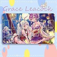 GraceLeacock カードゲームプレイマット 遊戯王 プレイマット Azur Lane アズールレーン IJN Ayanami 綾波 TCG万能 収納ケース付き アニメ 萌え カード枠あり (60cm * 35cm * 0.2cm)