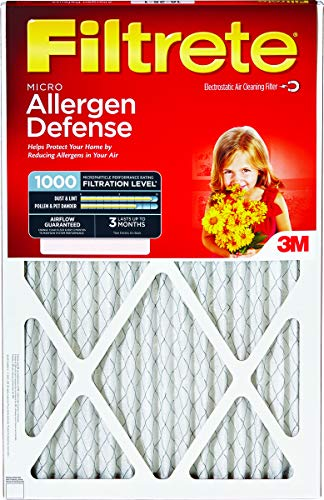 Lowest Price! Filtrete Reduction Filter Electrostatic, Micro Allergen 16  X 20  X 1  Pleated 1000...