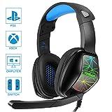 YINSAN Auriculares Gaming para PS4, Cascos Gaming...