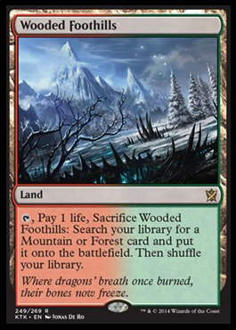Magic The Gathering - Wooded Foothills (249/269) - Khans of Tarkir - Foil