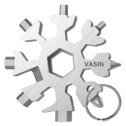 Schneeflockenwerkzeug,18-in-1Schneeflocke Multi-Tool Geschenke für Männer Edelstahl Multifunktionswerkzeug 2020 sakerwerkzeuge schneeflocke Weihnachtsgeschenke