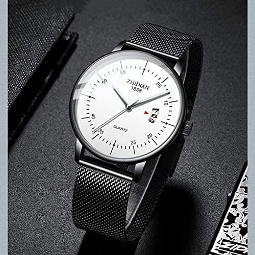 WYZQ Reloj Ultrafino para Hombre 2018 Nueva Tendencia de Moda Simple Concepto Informal Reloj para Hombre (Color: E) (Color: A), Relojes