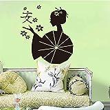 yiyiyaya Stickers Asie Japonais Geishas Zen Vinyle Sticker Mural Papier Peint Art...