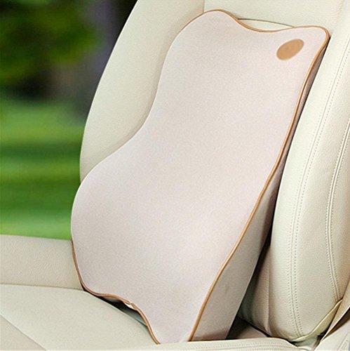 Coussin de coussin de voiture Coussin de haute densité Mousse de mousse Coussin lombaire Améliorer votre posture - Oreiller de soutien lombaire équilibré et équilibré pour la maison de bureau de voiture , Beige