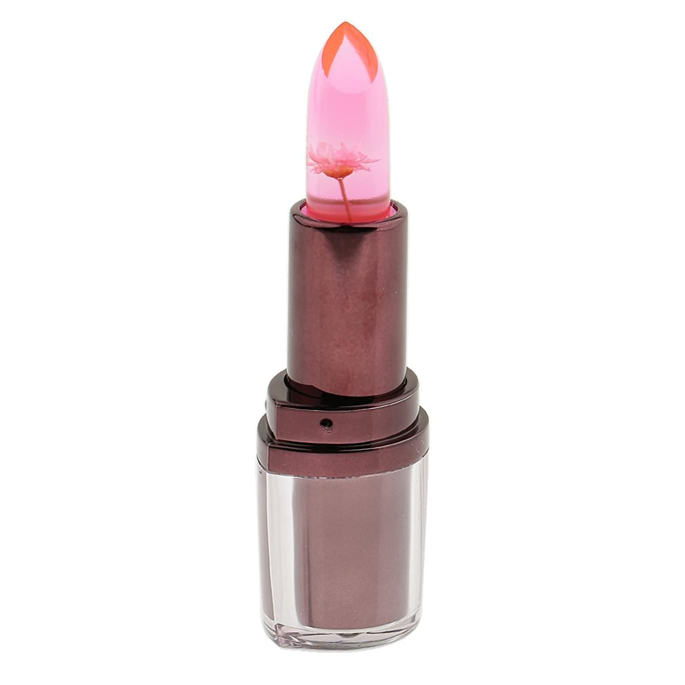 取るに足らない北へ無効にするPerfk ギフト 女性 フラワーゼリー  リップスティック モイスチャライジング リップ グロス 体温より独特唇色 全4色 - タイプ4