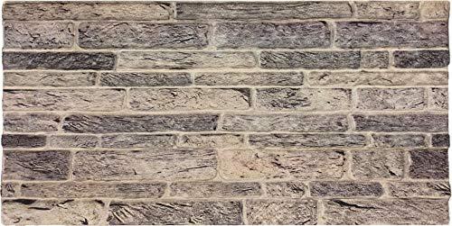 Wandverkleidung in Steinoptik für Schlafzimmer, Wohnzimmer, Küche und Terrasse in Klinkeroptik Look. (ST 315)
