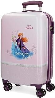 Disney Frozen La Reine des Neiges Spirits of Nature Valise Trolley Cabine Pourpre 37x55x20 cms Rigide ABS Serrure à combin...