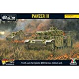 Bolt Action Panzer III Tank 1:56 WWII Military Wargaming Plastic Model Kit