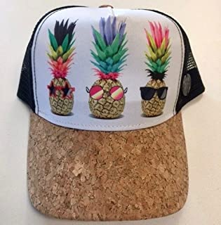 The Fineapple Pineapple Hat! Handpicked Design Exclusively Offered Custom Snap Back Trucker Hat. Too Cool for The Pool Anywhere Else!